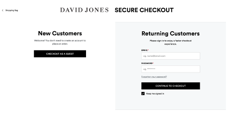 david-jones-guest-checkout