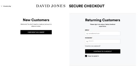 david-jones-guest-checkout