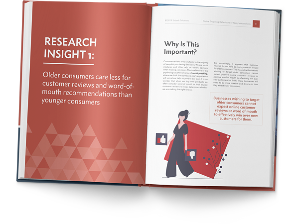 Mockup of eCommerce research by sitback
