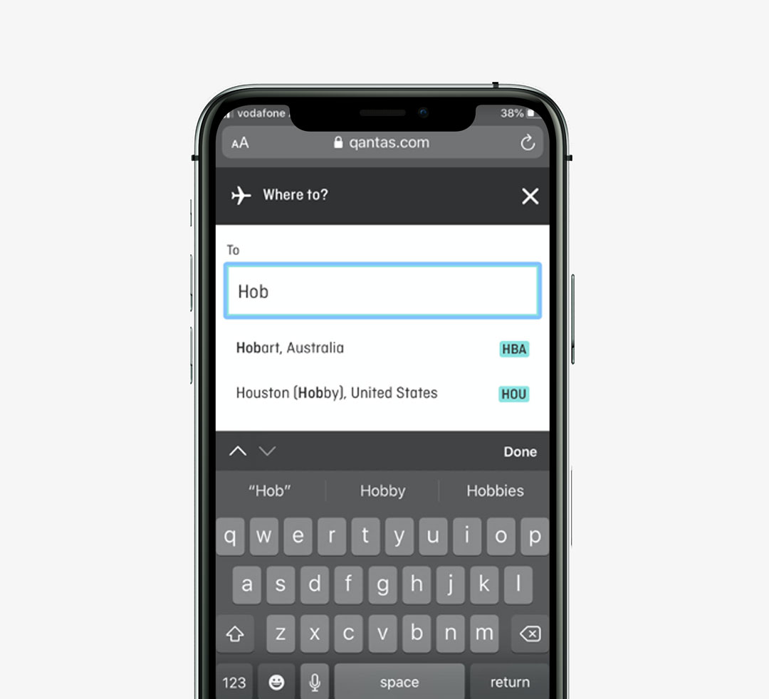 qantas-autocomplete-mobile-checkout-mockup